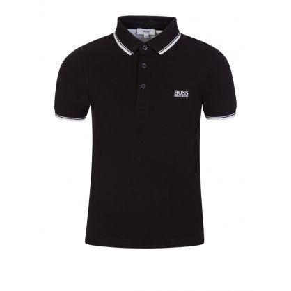 Black Classic Logo Polo Shirt