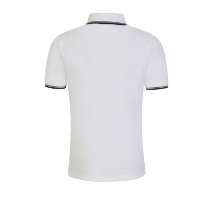 White Tipped Collar Polo Shirt