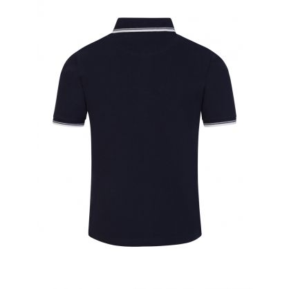 Navy Tipped Short Sleeve Polo