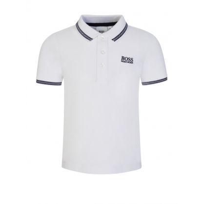 White Cotton Logo Polo Shirt