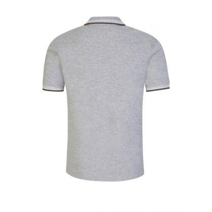 Grey Contrast Collar Polo Shirt