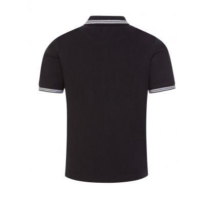 Black Cotton Logo Polo Shirt
