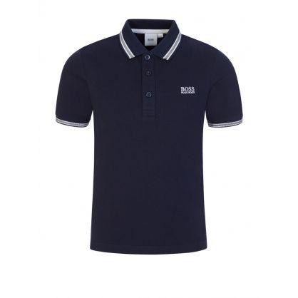 Navy Cotton Logo Polo Shirt