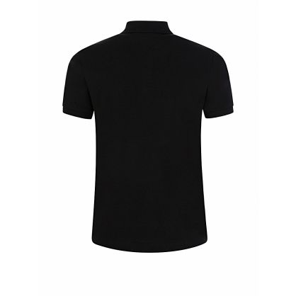 Kids Black Relaxed-Fit ICON Polo Shirt