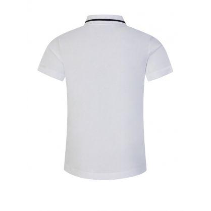 Junior White Logo Polo Shirt