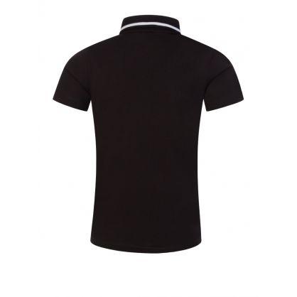 Junior Black Logo Polo Shirt