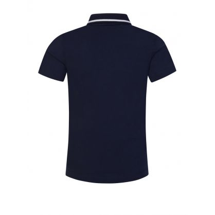 Junior Navy Logo Polo Shirt
