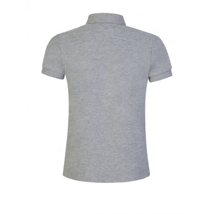Kids Grey 3-D Felt Logo Polo Shirt