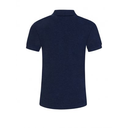 Kids Blue Cotton Polo Shirt