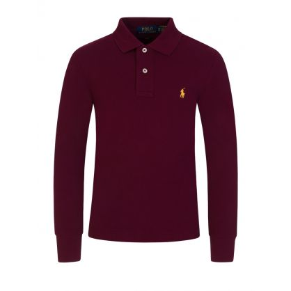 Kids Burgudy Polo Shirt