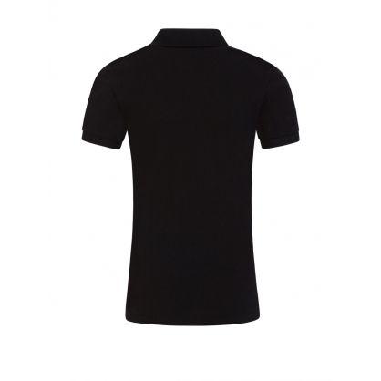 Kids Black Slim Fit Polo Shirt