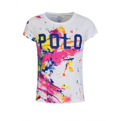 Kids White Paint Splatter T-Shirt