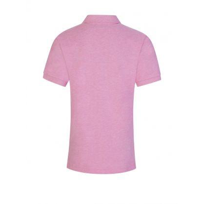 Kids Pink Slim-Fit Mesh Polo Shirt