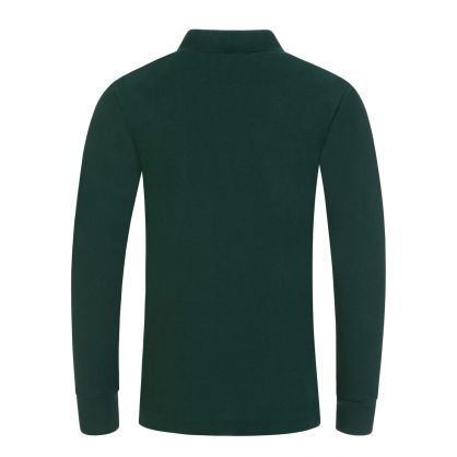 Kids Green Long-Sleeve Mesh Polo Shirt