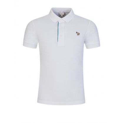 White Zebra Polo Shirt