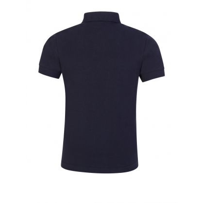 Navy Blue Zebra Polo Shirt