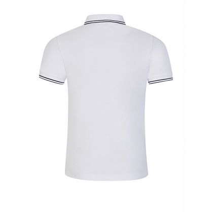 Junior White Compass Patch Polo Shirt