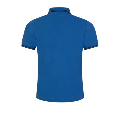 Junior Blue Compass Patch Polo Shirt