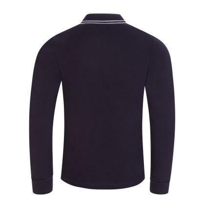 Junior Navy Long Sleeve Compass Polo Shirt