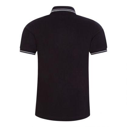 Junior Black Compass Logo Polo Shirt