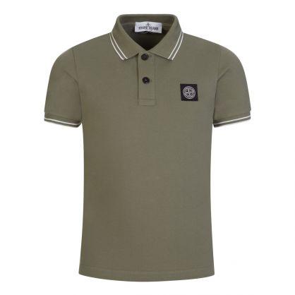 Junior Green Compass Logo Polo Shirt