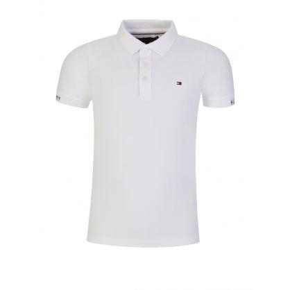Kids White Slim-Fit Polo Shirt