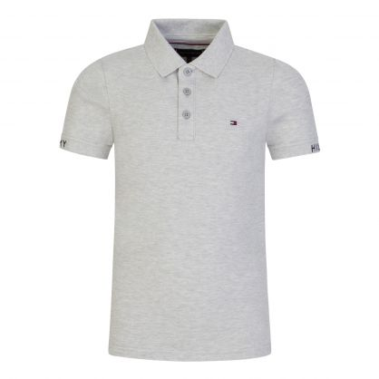Kids Grey Slim-Fit Polo Shirt