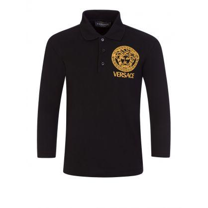 Black Medusa Head Polo Shirt