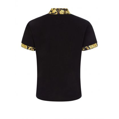 Black Baroque Collar Polo Shirt