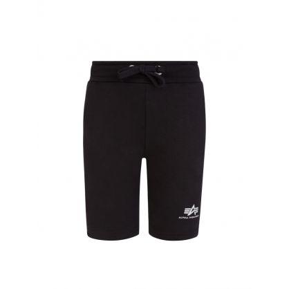 Kids Black Logo Sweat Shorts