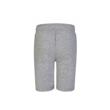 Kids Grey Logo Sweat Shorts