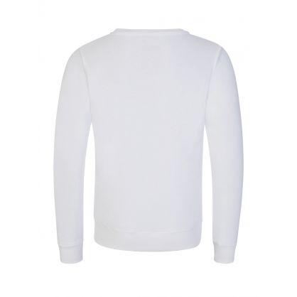 Kids White Basic Logo Sweatshirt