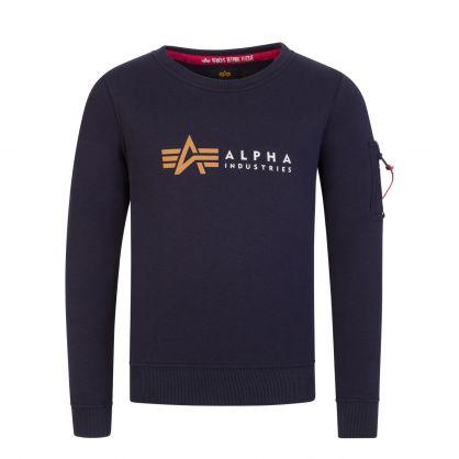 Kids Navy Blue Label Sweatshirt