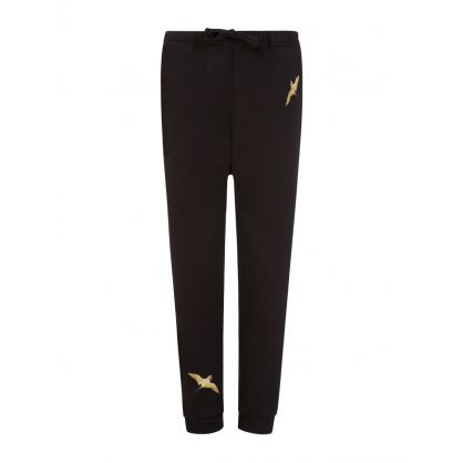 Kids Black Metallic Tori Bird Sweatpants