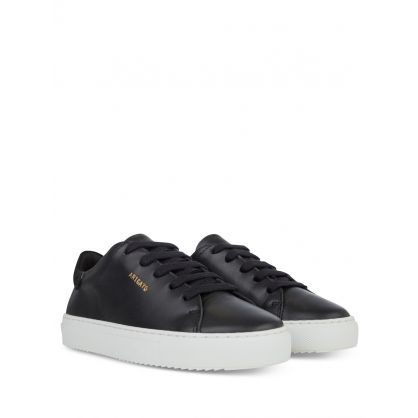 Kids Black Leather Clean 90 Trainers
