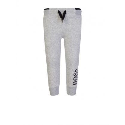 Grey Leg Logo Jogging Sweatpants