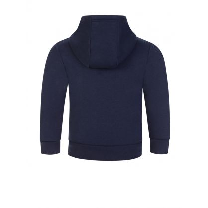 Navy Blue Zip-Through Tracksuit Hoodie