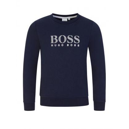 Navy Classic Logo Sweatshirt