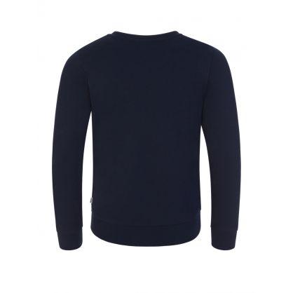 Navy Triple Gold Logo Sweatshirt