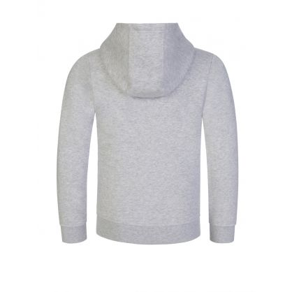 Grey Hooded Zip-Through