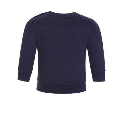 BOSS Kids Navy Mid-Weight Cotton Essential Logo Sweatshirt