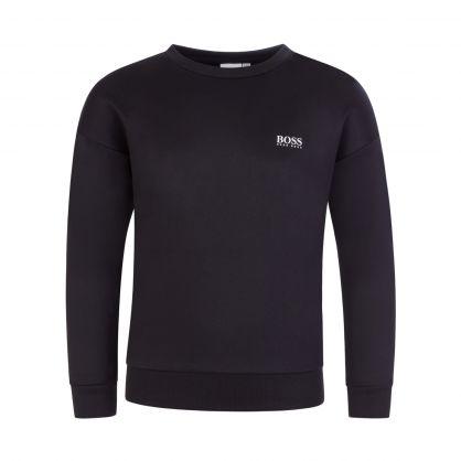 Black Athleisure Back Logo Sweatshirt