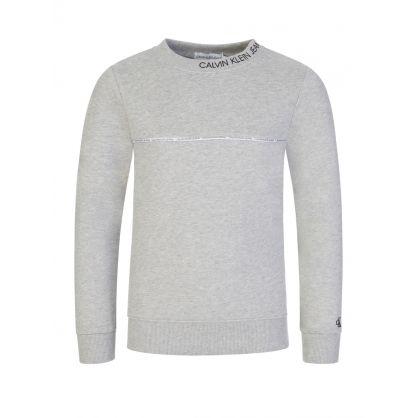 Jeans Kids Grey Logo Piping Sweatshirt