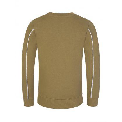Jeans Kids Green Logo Piping Sweatshirt