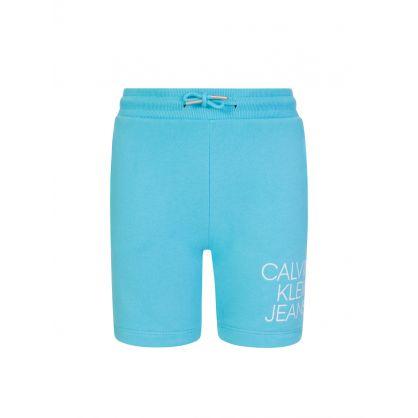 Jeans Kids Blue Hybrid Logo Shorts