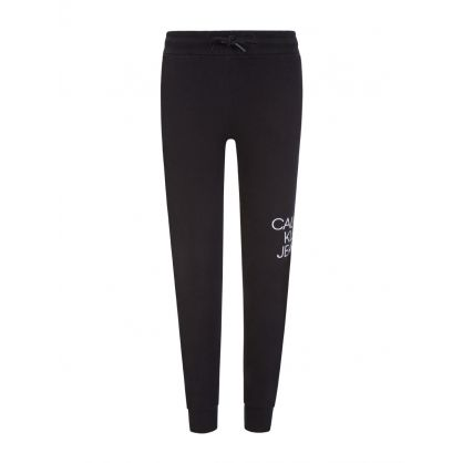 Kids Black Hybrid Logo Sweatpants