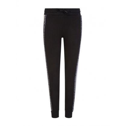 Jeans Kids Black Organic Cotton Colour-Block Sweatpants