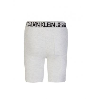 Kids Grey/Black Two-Tone Jogger Shorts