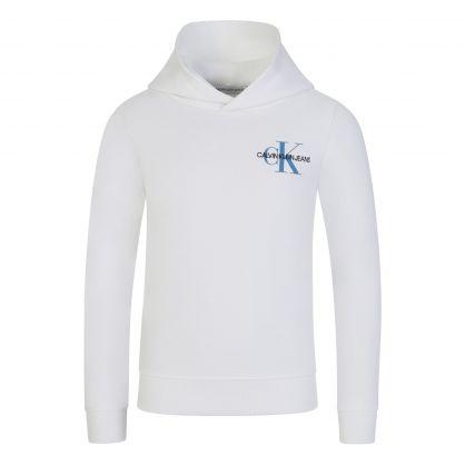 Jeans Kids White Monogram Hoodie