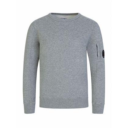 Grey Lens Sleeve Sweatshirt